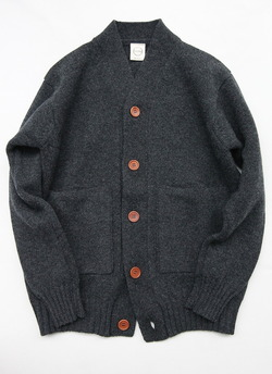 COUNTRY OF ORIGIN 3ply Cardigan CHARCOAL