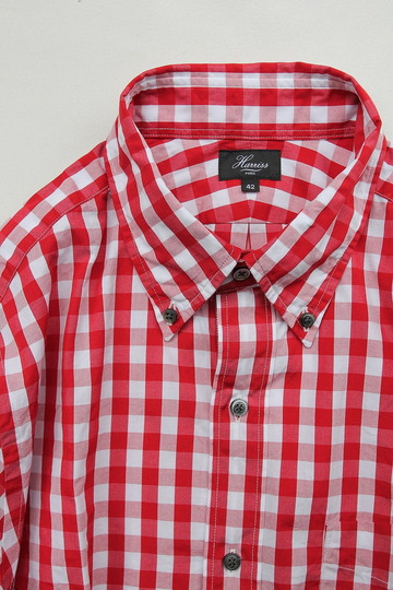 Harriss Big Gingham LS BD RED (2)