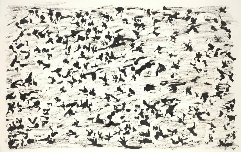 Henri Michaux, Sans titre, 1964. Encre sur papier,