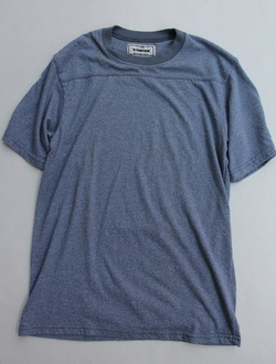 A VONTADE Football Tee SS HEATHER BLUE