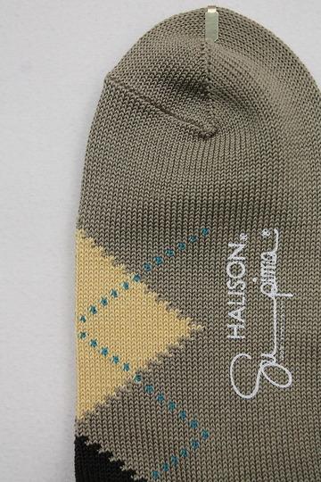 HALISON Su Pima Argyle Socks OLIVE (2)