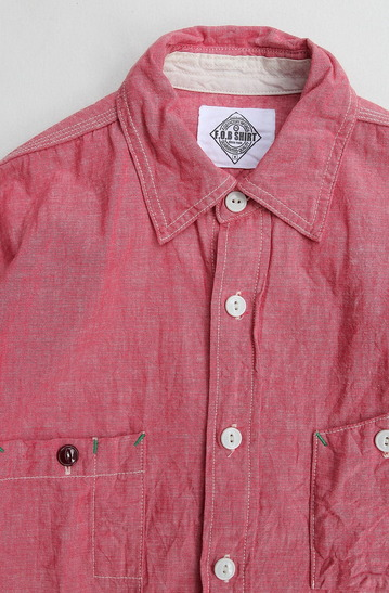 FOB Chambray Work Shirt RED (2)