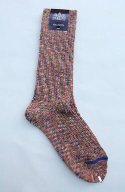 HALISON Marble Slab Rib Socks PINK (3)