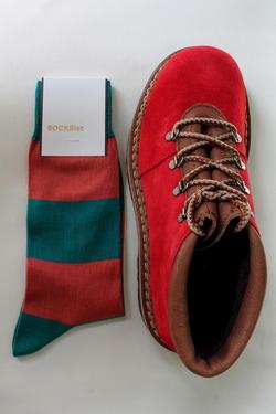 SOCKsist Socks GREENXORANGE