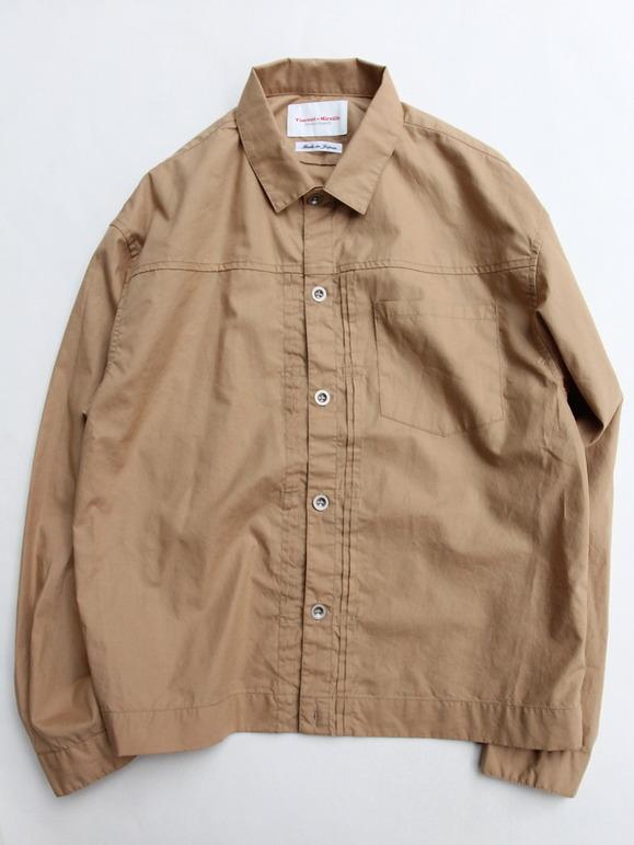 Vincent et Mireille G Shirt Yarn Dyed Broad BEIGE