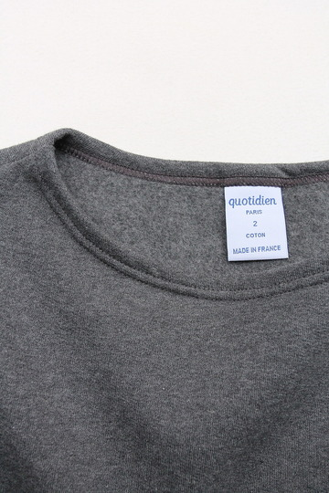 Quotidien Cotton Fleece Boatneck  ANTHRACITE CHINE (2)