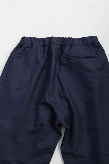 CESTERS Wool Herringbone  No Pleats Easy Trousers NAVY (4)