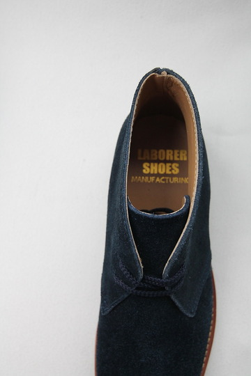 Laborer Shoes Postman Chukka NAVY Suede (5)