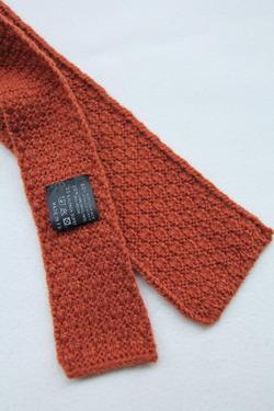 MADE IN FRANCE Wool Knit Tie ORANGE (2)