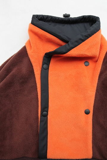coochucamp Happy Pullover Fleece BROWN ORANGE (2)