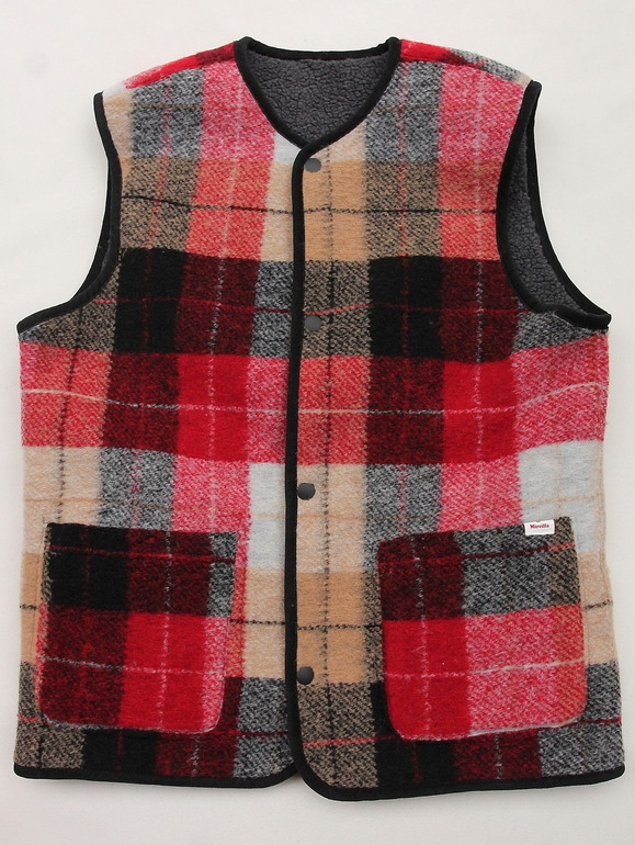Vincent et Mireille Boa Check RV Vest RED Check