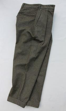 FOB 2 Tuck Wide Pants CW Back Satin OLIVE (6)