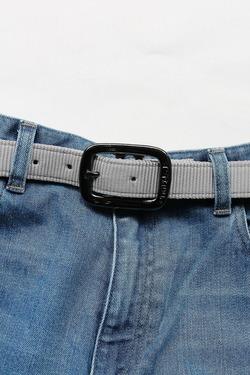 TRIPLE 1Plain Nylon Web Belt SILVER (2)
