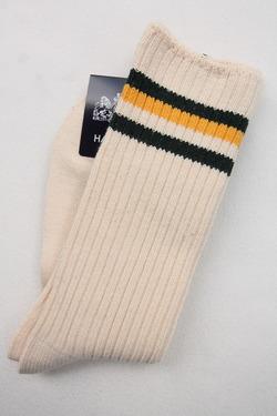 HALISON Organic Cotton IVY Crew Socks YELLOW GREEN (3)