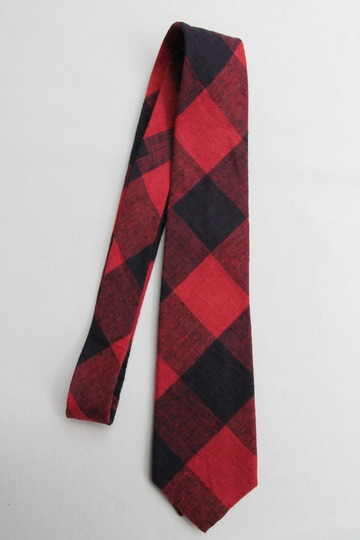 CANDIDUM Big Check Tie RED X BLACK (2)