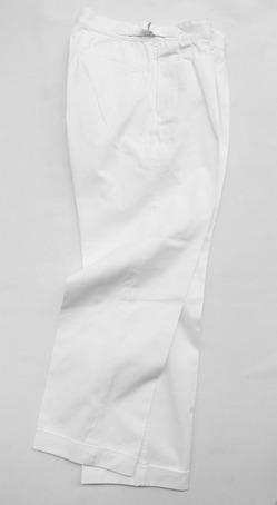 KIFFE Belt Less Pants WHITE (6)