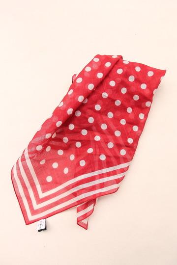 Vincenzo Miozza Cotton Linen Scarf RED 65cm x 65cm (3)
