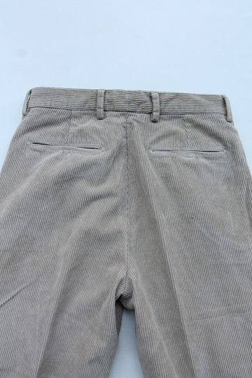 RM 1 Tuck Wide Pants 8 Well Corduroy BEIGE (4)