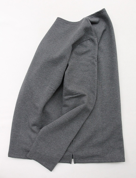 Quotidien Cotton Fleece Boatneck  ANTHRACITE CHINE (4)