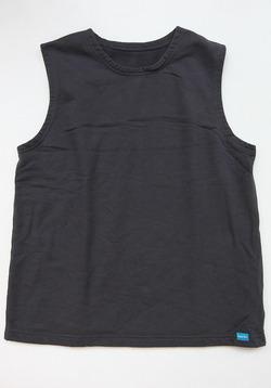 Goodon PO Crew Sweat Vest P BLACK