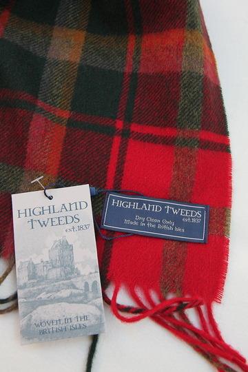 Highland Tweeds DARK MAPLE Stole
