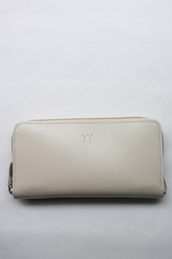 NOUN Leather Long Wallet ECRU