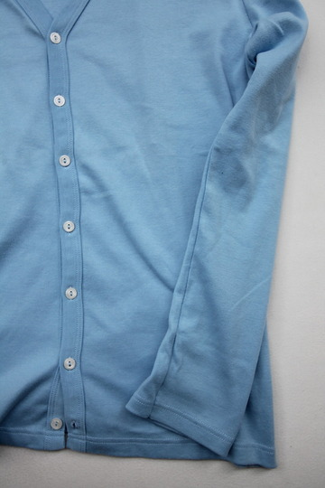 Quotidien 1X1 Rib Vneck Cardigan L BLUE (4)