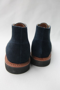 Laborer Shoes Postman Chukka NAVY Suede (8)