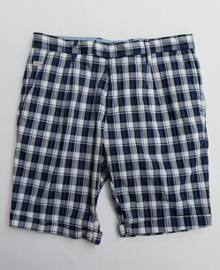 Perfection Cotton Plaid 1 Tuck BLUE Plaid