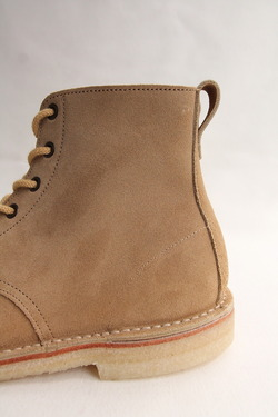 Suffolk Shoes Desert Hi Top SAND Suede (9)