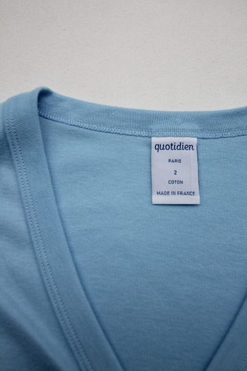 Quotidien 1X1 Rib Vneck Cardigan L BLUE (5)