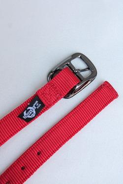 TRIPLE 1 Plain Nylon Web Belt RED (2)