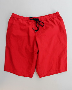 MIDA Nylon Shorts with Mesh Lining RED X NAVY