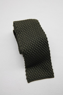Component Silk Knit Tie Wide OLIVE