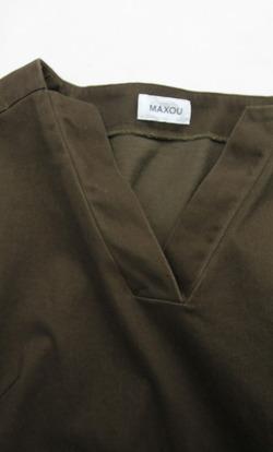 MAXOU Mini Velor Lounge Dress OLIVE (2)