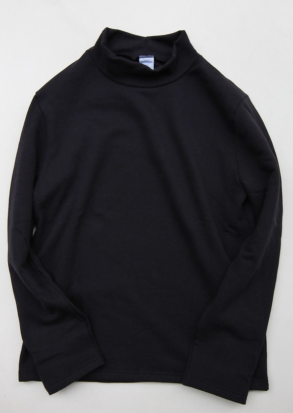 Quotidien Cotton Fleece Mock Neck NAVY