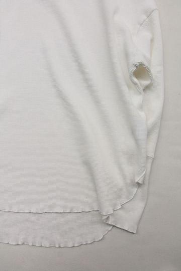 MAXOU Cotton  Waffle V&Button Neck WHITE (4)