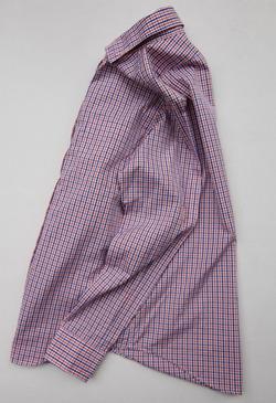 Harriss Plaid Shirt ORANGE X NAVY (2)