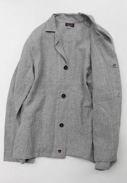 SABLE Linen Wrok Jacket GREY (5)
