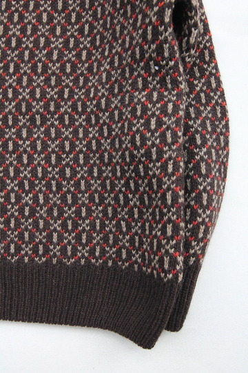 Harley Jacquard Double Crew Neck BROWN (4)