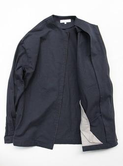 RICE MAN Zip Up Shirt NAVY (4)