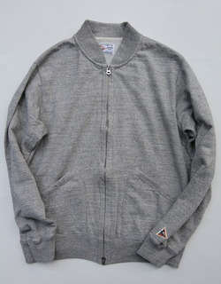 Felco French Terry Award Zipfront Jacket HEATHER GREY