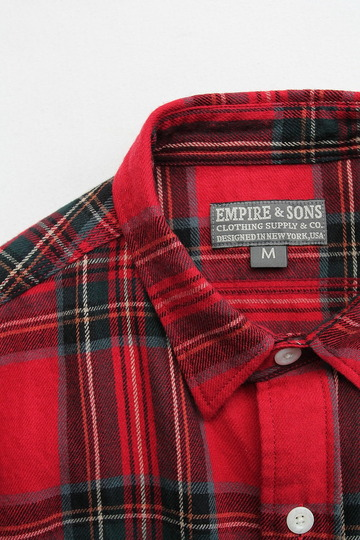 EMPIRE & SONS Work Tab Shirt Flannel Check RED Check (3)
