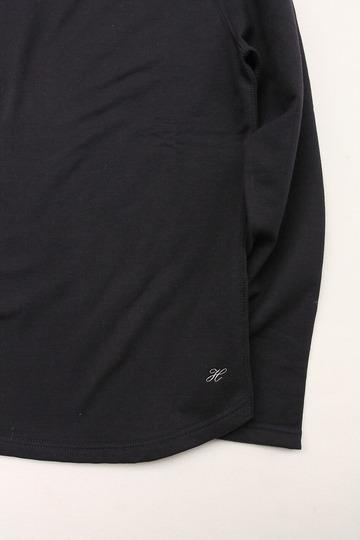 Harriss Cotton Bind Boat Neck SW Shirt NAVY (3)