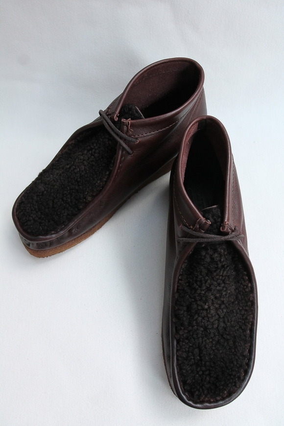 HTS Upper Sheep Skin Wallabee D BROWN (3)