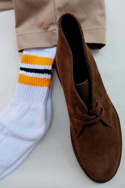 STRIP Crew Socks 9-11 GOLD X BLACK
