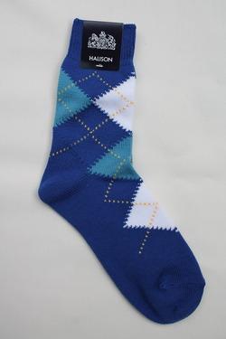 HALISON Dralon Cotton Srgyle Short Socks BLUE
