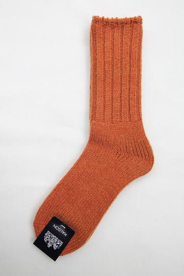 HALISON HW Rib Rug Socks ORANGE (2)