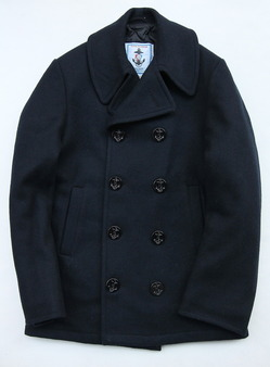 Sterlingwear Wool Melton P Coat NAVY