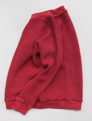 Goodon Crew Cotton Sweater P RED (5)